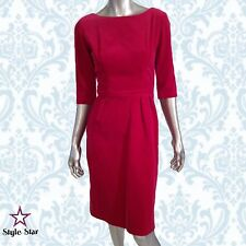 Vintage 50s Dress Red Velvet Wiggle Holiday Cocktail Party VLV Rockabilly XS-S