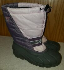 SOREL WOMENS PINK LINED MOON SNOW BOOTS SIZE 5 EUC