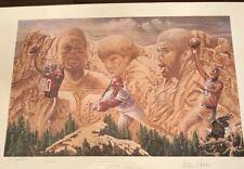 "Signed ""All Time Leaders"" Print Framed Jerry Rice Pete Rose Kareem Abdul Jabbar"