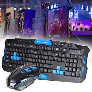 2.4GHz Wireless Tastatur Und Maus Set Funk Kabellos Keyboard PC Laptop Computer
