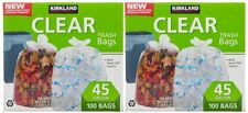 Kirkland Signature Trash Bags, Clear, 45 Gallon, 100 ct | 2 Pack