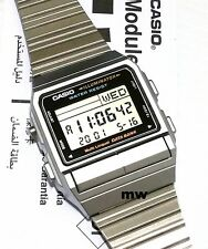 Casio DB-380-1D Silver DataBank Data Bank Vintage Watch DB380 Dual time FreeShip