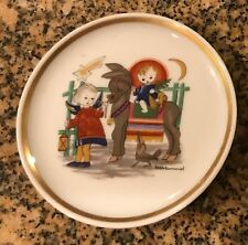 M.J. Hummel W. Germany Small Plates ~ Angel Leading Donkey Ridden by Saint 1975