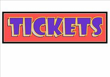 Fairground Sign Vintage Fun Fair Tickets Sign Tickets Here Sign Box Office Sign