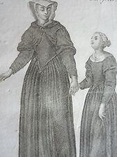 Soeur CONGREGATION GUASTALINES ordre religieux habit GRAVURE F. DUFLOS XVIIIéme