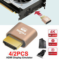 4K HDMI Dummy Plug Display Emulator Adapter Headless Ghost for PC Mining Server
