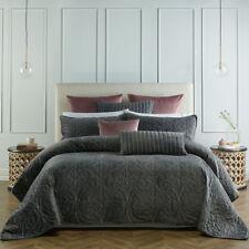 Bianca Genevieve Coal Coverlet Set Bedspread Super King Bed