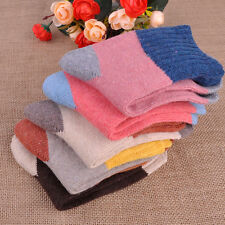 5Pairs Women Girl's Multicolor Wool Cashmere Socks Winter Warm Thick Soft Socks