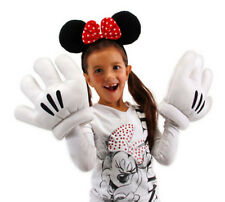 Walt Disney's Minnie Mouse Ears and Gloves Licensed Costume Accessory, NEW