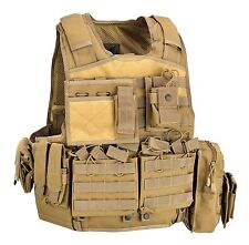 Gilet Tattico Body Armour Carrier Vest BAV06 Defcon 5 COYOTE TAN BAV 06 DEFCON5