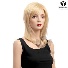 Medium Long Wave Women Wig Gold Color Female Wigs Synthetic 100% Japanese Hair