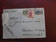 Schöner Einschreib- Brief mit 5 Leitstempeln a.d. Rückseite