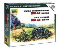 Zvezda  1:72  German Pak 40 Anti-Tank Gun w/3 Crew (Snap)  ZVE6257