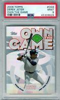 """2006 Topps Own The Game #OG9 """" Derek Jeter """" PSA 9 {HOF 2021 99.7%} Yankee's xy5"""
