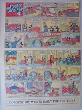 Mickey Mouse Sunday Page by Walt Disney from 3/19/1939 Tabloid Page Size