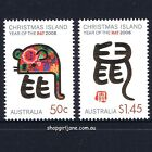 2008 - Australia - Christmas Island - Zodiac Year of the Rat - set of 2 - MNH