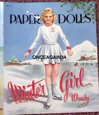 Vintage Uncut 1952 Winter Girl Wendy/Summer Girl Sue Paper Dolls~#1 Reproduction