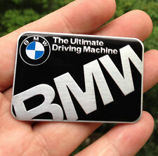 Black BMW Ultimate Driving Aluminum Body Side Emblem Sticker Decal Badge For BMW