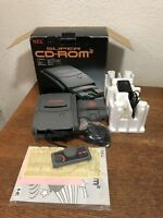 NEC Super CD-Rom 2 + PC Engine Core II Grafx Japan In Box Complete