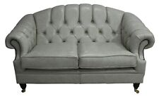 Victoria Traditional 2 Seater Stella Ice Leather Sofa Settee Couch