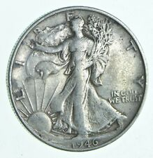 XF+ 1946-S Walking Liberty 90% Silver US Half Dollar - NICE COIN *663