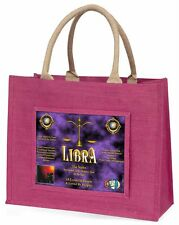 Libra Star Sign of the Zodiac Large Pink Shopping Bag Christmas Presen, ZOD-7BLP