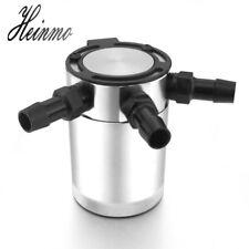 Baffled Aluminum 3-Port Oil Catch Can Tank Reservoir Air-Oil Separator Polished