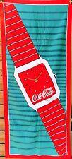 towel serviette de plage vintage COCA COLA montre - 75 x 150 cm