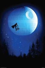DARK RIDE DARTH VADER STAR WARS E.T. MOVIE SPOOF FUNNY 24x26 Poster DEATH MOON!!