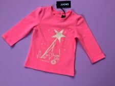 Designer DKNY Girls Pink T-Shirt 12 Months  Long Sleeved WAS £35 NOW £16 SALE