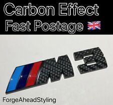 BMW M3 M 3 Negro Efecto Fibra de carbono insignia de arranque conjunto Emblema Trasero
