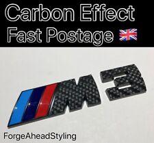 BMW M3 M 3 Black Carbon Fiber Effect Boot Badge Set Emblem Rear