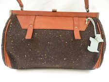 RADLEY  BROWN FABRIC WITH LEATHER TRIM TOTE OR SHOULDER BAG