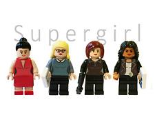 Supergirl custom lego minifigures. Sanvers, Supercorp. Kara, Alex, Lena, Maggie.