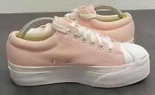 CONVERSE WOMEN'S (4.5) JACK PURCELL PINK CANVAS OLD SCHOOL LOW PROFILE SNEAKERS