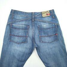 Quiksilver Quikjean Blue Straight Distressed Denim Jeans Men's Size 30 L32