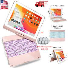 For iPad 10.2 7th Gen 2019/ iPad 10.5 Bluetooth Keyboard Case Backlit Cover