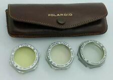 Vintage Polaroid Filter Set #1 #2 #3 w/original leather case