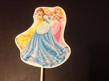 DISNEY'S PRINCESSES AURORA,BELLE & CINDERELLA 12 PIECE PARTY FAVOR TOPPERS