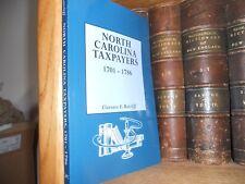North Carolina Taxpayers 1701-1786 New Genealogy Book