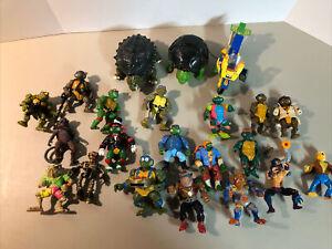 Vintage Teenage Mutant Ninja Turtles action figure lot Tokka Shredder Bebop