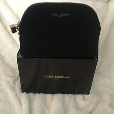 Dolce & Gabbana Black Velvet Makeup Bag Cosmetic Pouch New