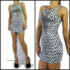 $90 SNAKEBITE TRIBAL BODYCON chevron stripe DRESS 8 sequin CLUB PARTY NWOT asos