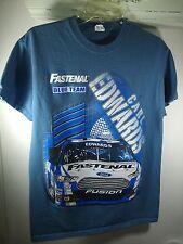 M light blue T-Shirt CARL EDWARDS nascar STOCK CAR RACING auto race PITCREW