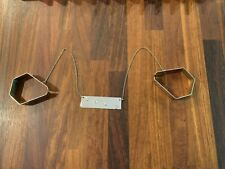 VINTAGE 1950's - RHODA FRENCH - METAL BABY CARRIAGE COVER CLAMPS