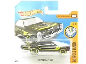 Hotwheels 67 Pontiac Gto Muscle Mania 69/365 Court Carte 1 64 Scale Scellé Neuf