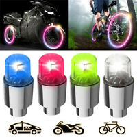 2pcs Bike Car Motorcycle Wheel Tire Tyre Valve Cap Flash LED Light Spoke LampYBH