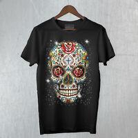 T-shirt Uomo Skull Mexican Teschio Messicano Moda Rock Cool Idea regalo
