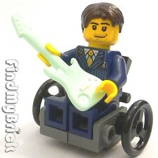M011B GW Lego Wheelchair Minifigure with Guitar from Santa's Workshop 10245 NEW