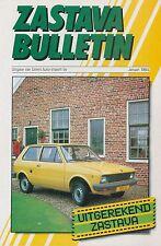 1984 ZASTAVA YUGO 45E GTL 55 PROSPEKT BROCHURE CATALOGUE NIEDERLÄNDISCH